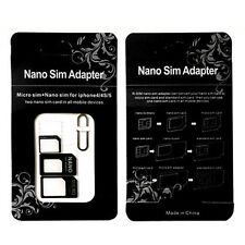 Kunststoff 3 Set Convert Nano SIM Card to Micro Standard Adapter For iPhone 5/6s