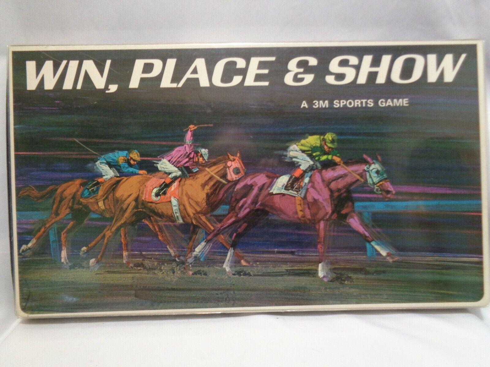 1966 årgång häst Racing spel Fullständigt aldrig använt Win Place and Show 2M Sport