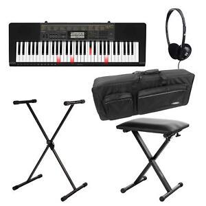 Casio-LK-265CA-61-Leuchttasten-Keyboard-Set-Staender-Kopfhoerer-Keyboard-Tasche