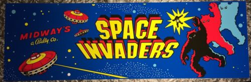 """Space Invaders Arcade Marquee 24.25/""""x7.75/"""""""