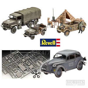 Revell-WWII-Model-Vehicle-Kits-1-35-Scale-German-American-Trucks-Cars-Jeeps