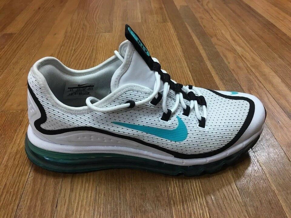 Nike Air Max More Mens Running shoes Sz 8.5 Trainer Sneaker White Dusty Cactus