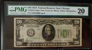 20-1934-FEDERAL-RESERVE-NOTE-CHICAGO-PMG-VERY-FINE-20-S-N-G00193559