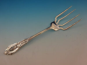 """Rose Point by Wallace Sterling Silver Regular Fork 7/"""" Flatware"""