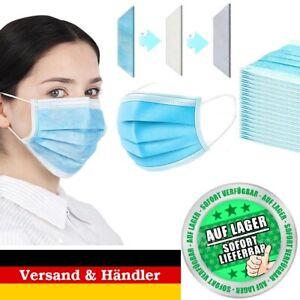 5-250Stück Mundschutz Maske 3-lagig OP Gesicht Hygienemaske Atemschutz Gummiband