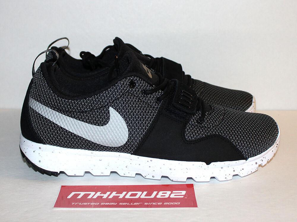 New DS Nike SB Trainerendor Black Metallic Skateboard Shoes Size 11