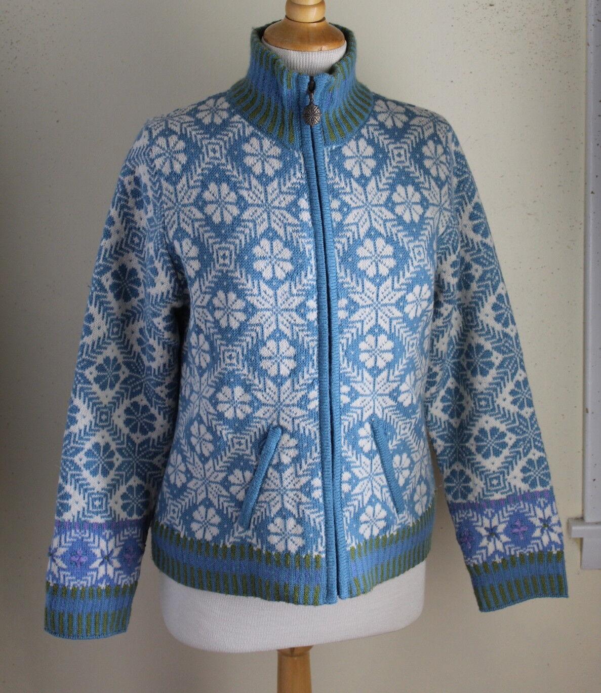 Icelandic Design-Talla S Copo De  Nieve Nórdico Lana arte para llevar Suéter Chaqueta Forrada  Sin impuestos