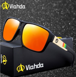 Men Sport Polarized Sunglasses Outdoor Driving Fishing Square Coating Glasses