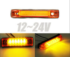 6 LED Trailer Truck Lorries Clearance Side Marker Indicators Light Lamp Amber