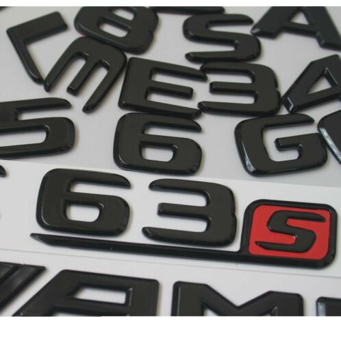 Gloss Black Emblems for Mercedes Benz X166 GL63 AMG GL350 GLS400 GL500 4MATIC