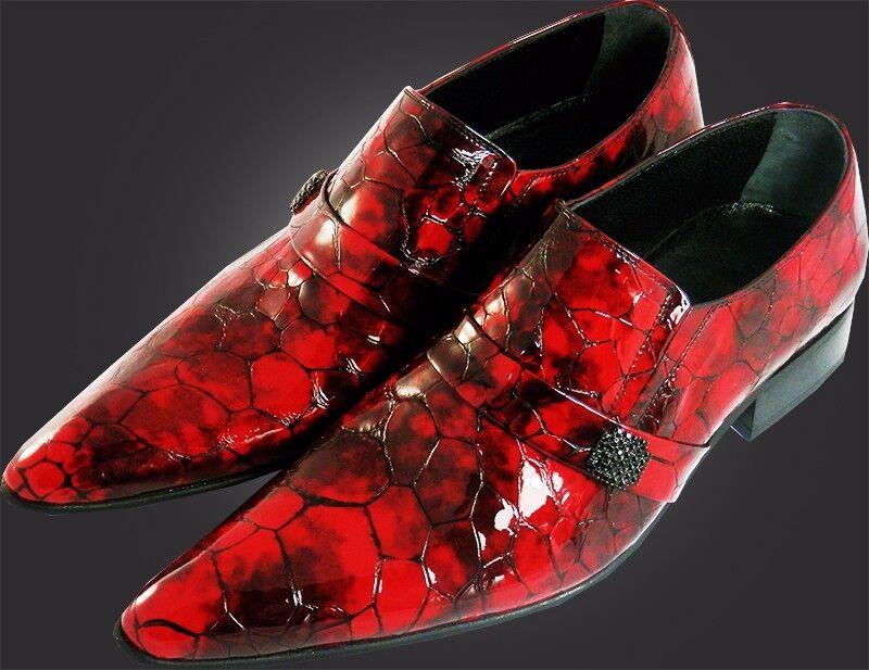 OG Chelsy FATTO A MANO ITALIANO Diamante DESIGNER imitazioni Scarpa Diamante ITALIANO BORDEAUX ROSSO 39 Scarpe classiche da uomo 0b91e0