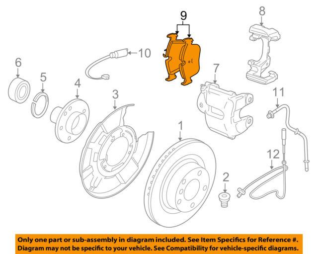 BMW OEM 12-16 328i Brake-Rear Pads 34206873094