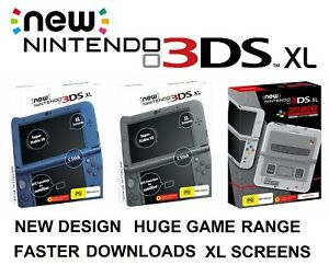 New-Nintendo-3DS-XL-LL-Handheld-Game-Console-System-Blue-Metallic-Black-SNES-LE