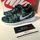 NIKE ROSHE RUN 7 7.5 8 8.5 9 10 11 11.5 12 PALM TREE FLORAL POISON GREEN