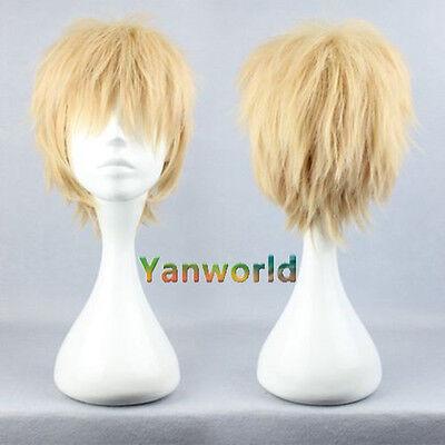 New Cheap DRAMAtical Murder DMMd Noiz Short Blonde Synthetic Cosplay Full Wig