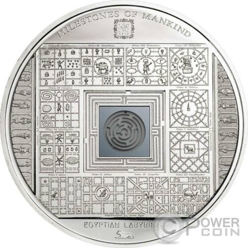 EGYPTIAN LABYRINTH Milestones of Mankind Silver Coin 10$ Cook Islands 2016
