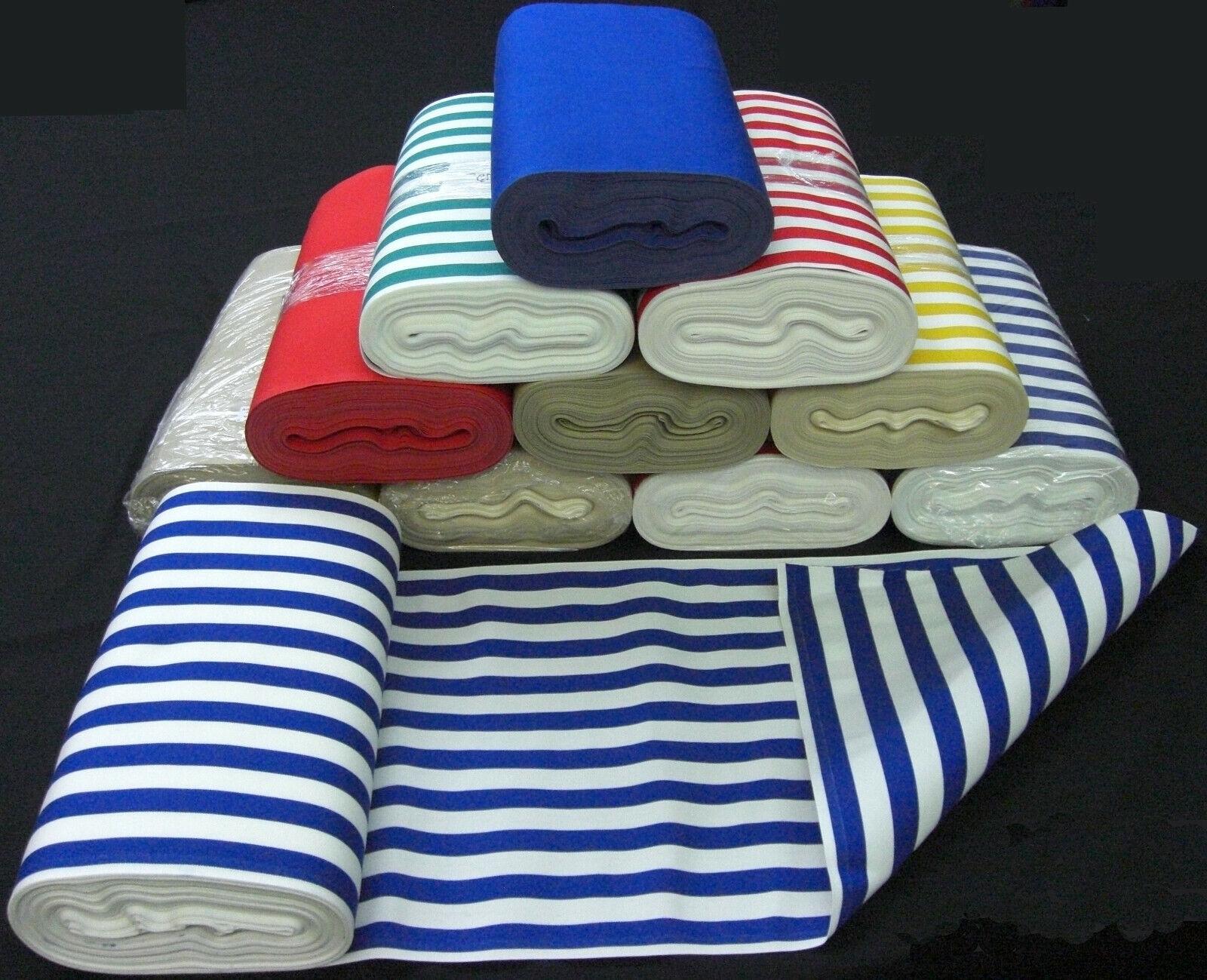 wetterfester Liegestuhl Outdoorstoff 45cm breit Streifen Meterware Multicolor