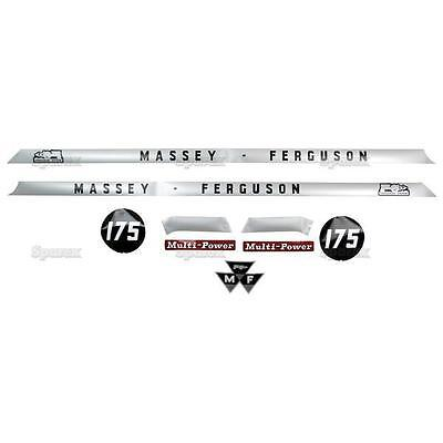 Massey-Ferguson MF 175 MF175 Tractor Basic Decal Set