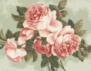 Schematic diagram cross stitch picture pink rose flowers flower ebay image is loading schematic diagram cross stitch picture pink rose flowers ccuart Images