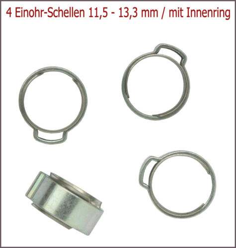 11,5-13,3 MM 9 mm de largeur 4 pièces einohr-Colliers avec axe