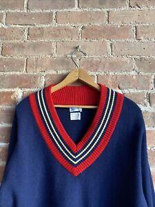 Vintage Trimingham's of Bermuda Men's Cricket Sweater, Sz Large Blue Scotland