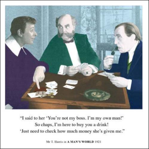 Je suis ma propre homme drôle anniversaire carte de vœux rétro humour drama queen cartes