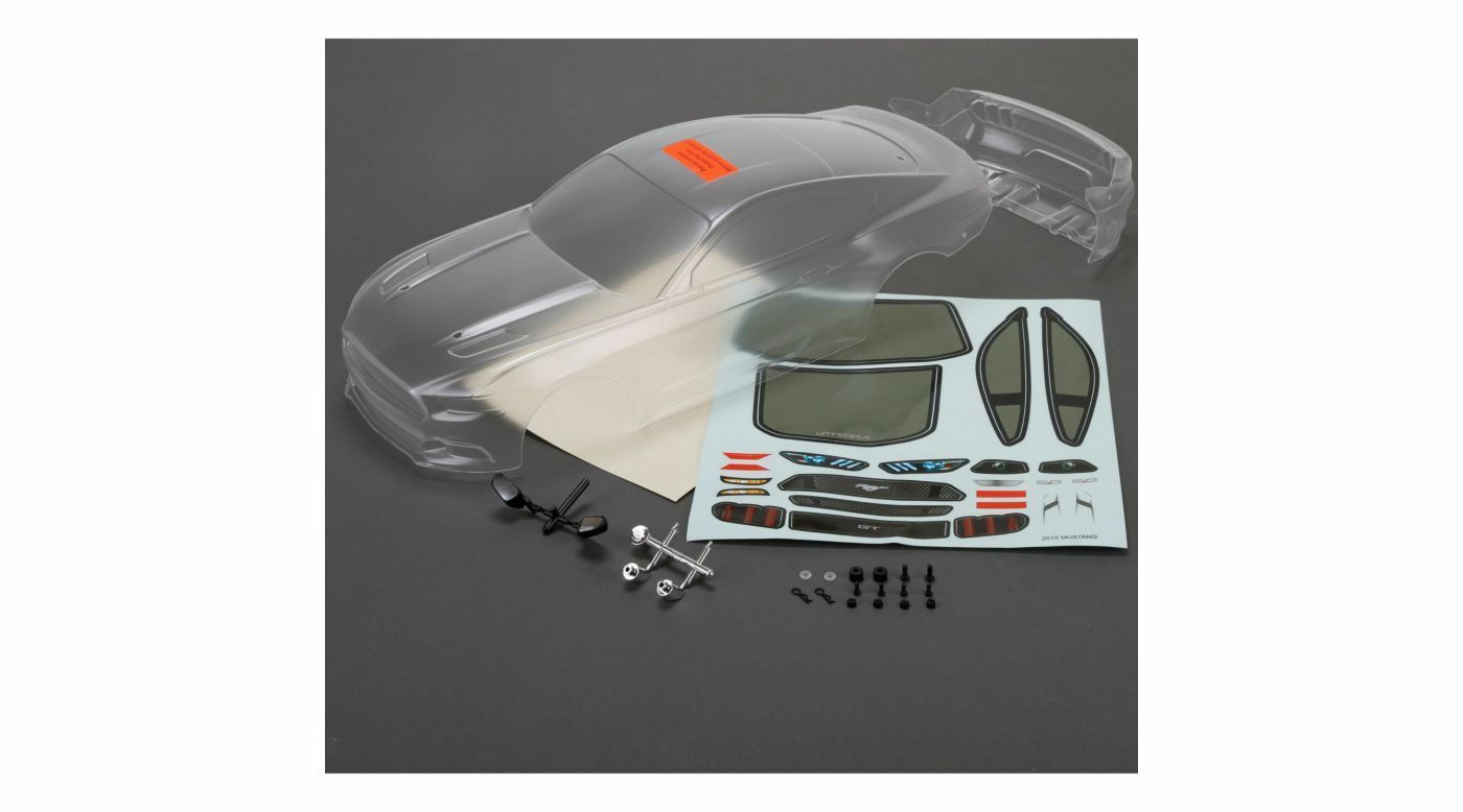 Vaterra VTR230039 2015 Ford Mustang Body Set Unpainted