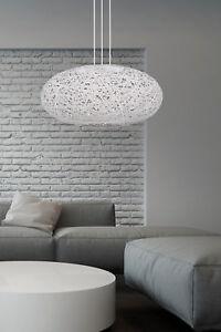 Details zu Leuchte Deckenleuchte Wohnzimmer Lampe E27 Schlafzimmer weiss  grau Pendelleuchte