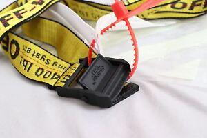 Cintura cravatta industriale off white Virgil Abloh Fibbia in ferro giallo 200CM