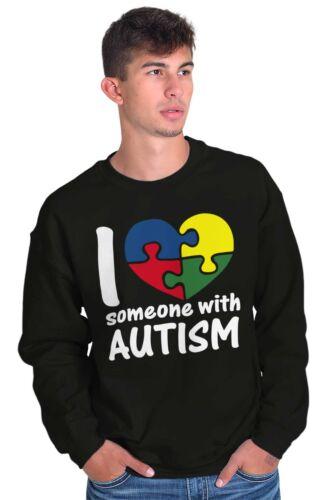 I Love Someone With Autism Shirt Cute Autism Awareness Unisex Sweatshirt