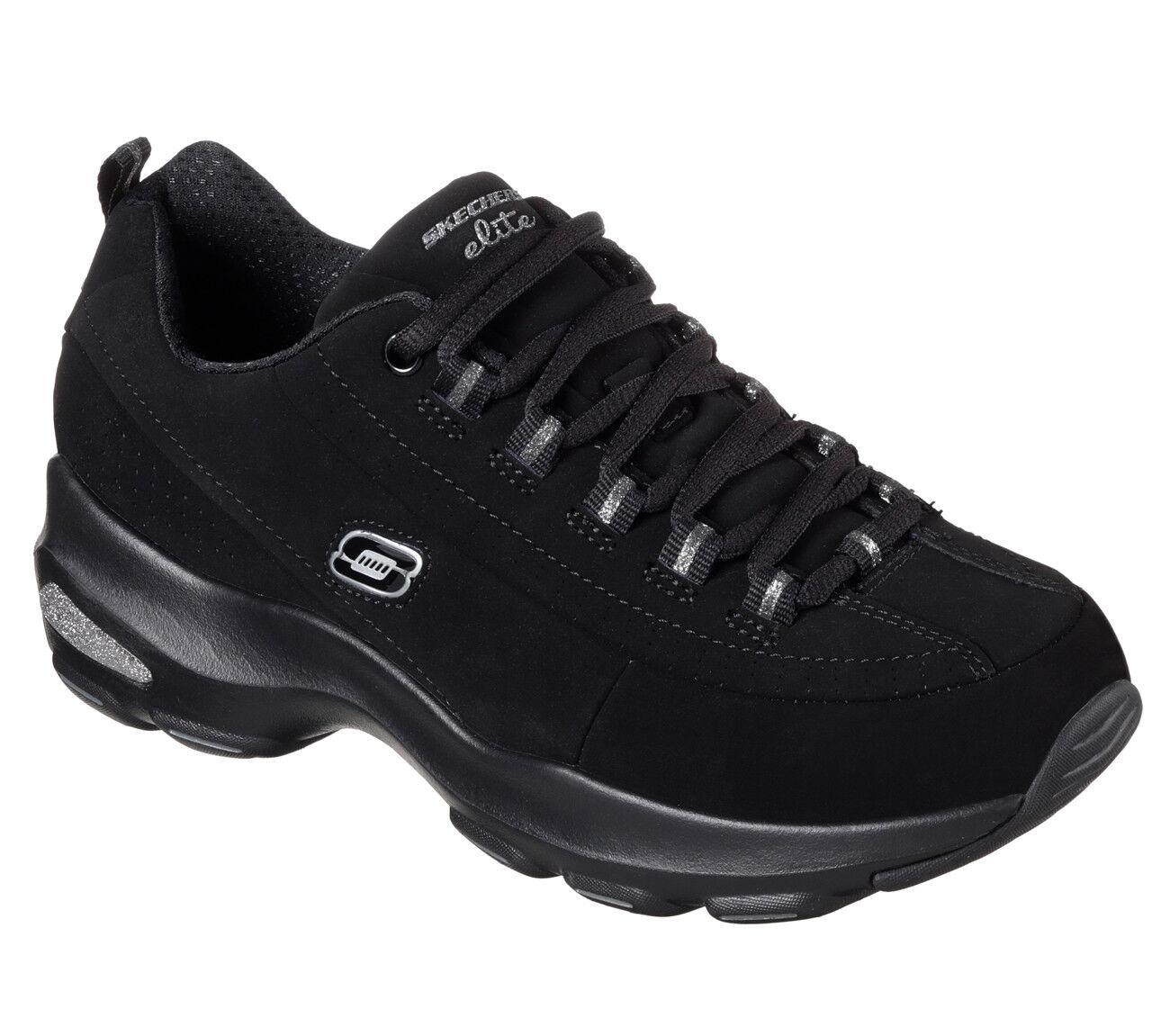 NUOVO Skechers sneakers da donna sneakers Skechers D'Lite Ultra-Reverie Nero bb1068