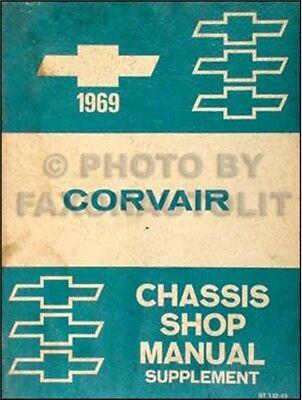1969 Chevy Corvair Negozio Manuale Integratore 69 Servizio Riparazione Con Monza Per Produrre Un Effetto Verso Una Visione Chiara