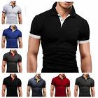 New Fashion Men's Slim Fit Casual Polo Shirt Short Sleeve Shirt T-Shirt Tee Tops