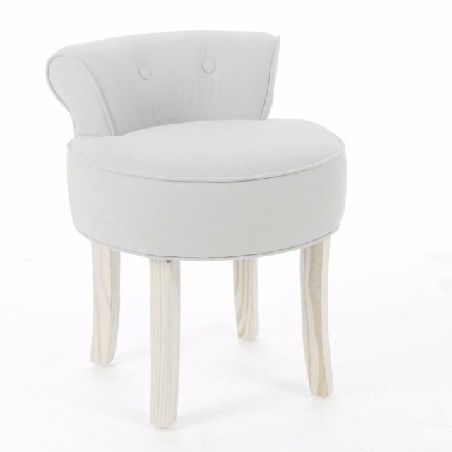 Super Dressing Table Modern Bedroom Deluxe Vanity Stool Padded Seat Chair Cotton Linen Download Free Architecture Designs Barepgrimeyleaguecom