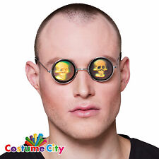Adults Skull Hologram Glasses Halloween Voodoo Fancy Dress Party Accessory