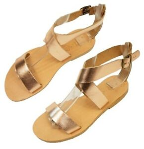 732bebbb9e82a Ancient Greek Style Roman Leather Handmade Sandals Shoes Women Flat ...