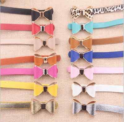 Fashion Women Lady Multicolor Waistband PU Leather Thin Skinny Belt beautiful