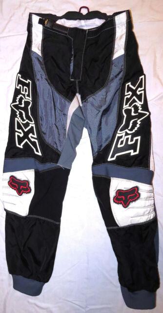 FOX 180 MX PANTS sz 34 Black Gray White motocross riding racing