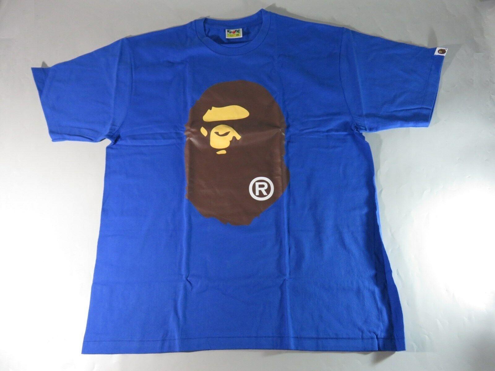 20155 bape big ape head Blau tee XL