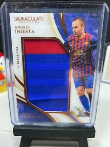 2020 Panini Immaculate Soccer ANDRES INIESTA Standard JUMBO Patch BRONZE 13/50