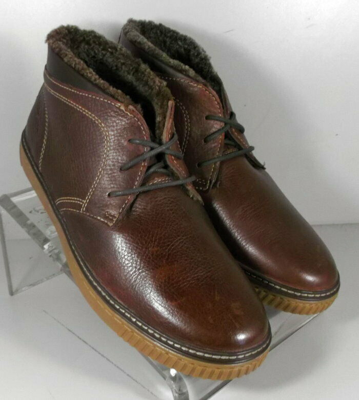 253125 MSBT50 Men's shoes Size 8.5 M Brown Leather Boots Johnston & Murphy