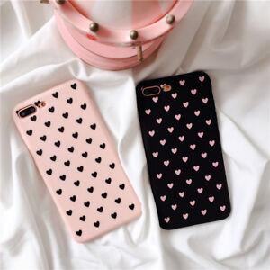 Custodia del telefono per le donne copritelefono cuori rosa