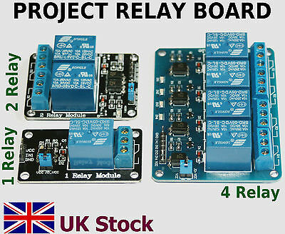 Project 5v Relay Board Module 1 2 & 4 relay boards Arduino Raspberry PI -UKStock
