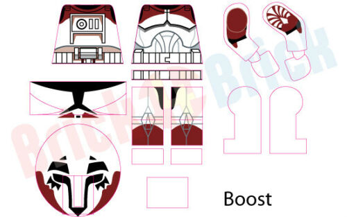 Lego Star Wars Clone Boost from Wolfpack Custom Water Slide Decal