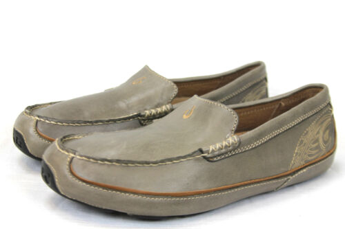 Olukai Sko Green Olive Lokahi 2626 Lær Ny 10129 Slip ons weather All p7prUR