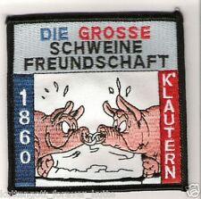 """Anti Lautern Aufnäher """"Schweinefreundschaft"""" Kutte Weste Fan Patch Block + neu +"""