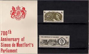 GB-1965-700th-Anniversary-Of-Simon-De-Montfort-039-s-Parliament-Presentation-Pack