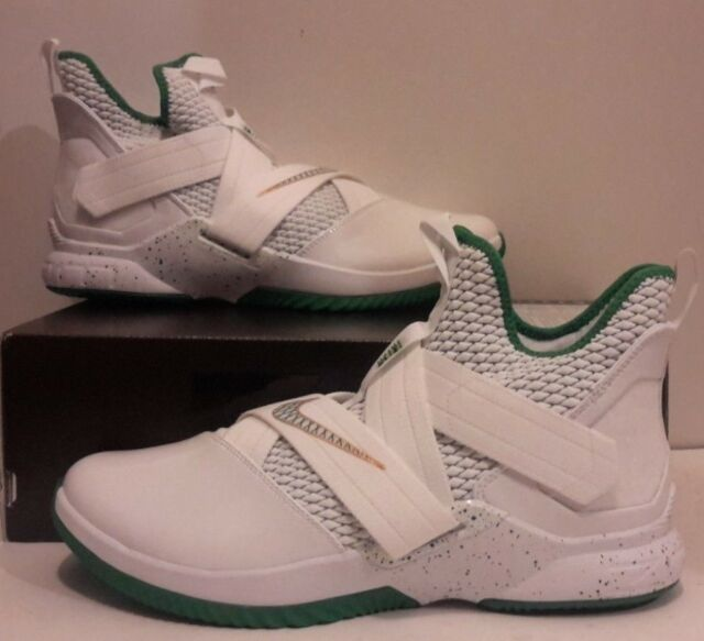 86c93a8cb942 Nike Lebron Soldier 12 XII SVSM Home Mens Ao2609-100 White Green Shoes Size  11