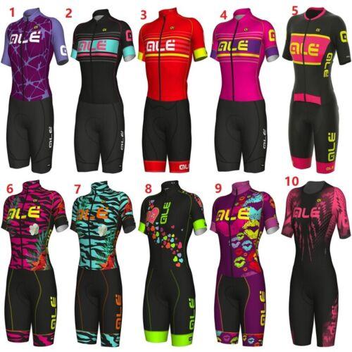 Women Jumpsuit Cycling Jersey Set Summer Women Short Bike Bicyle Tight Skin suit
