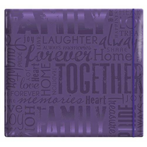 Mcs Mbi 13.5x12.5 Inch Embossed Gloss Expressions Scrapbook Album With 12x12